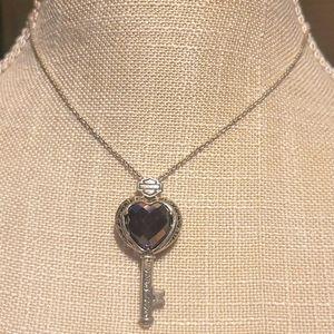 Mod 925  Harley davidson heart key necklace